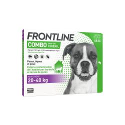 Frontline combo chien l 20-40kg 4 pipettes