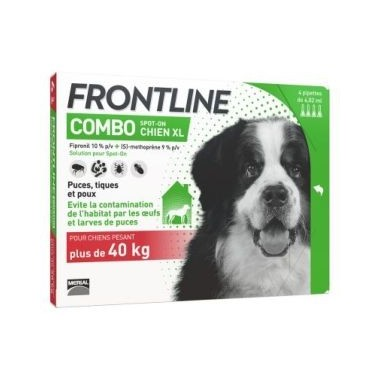 Frontline combo chien xl +40kg 4 pipettes