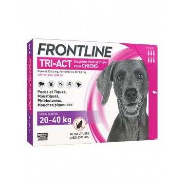 Frontline tri-act chien...