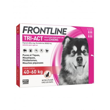 Frontline tri-act chien 40-60 kg 6 pipettes