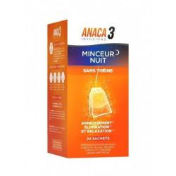 ANACA 3 infusion minceur nuit 24 sachets