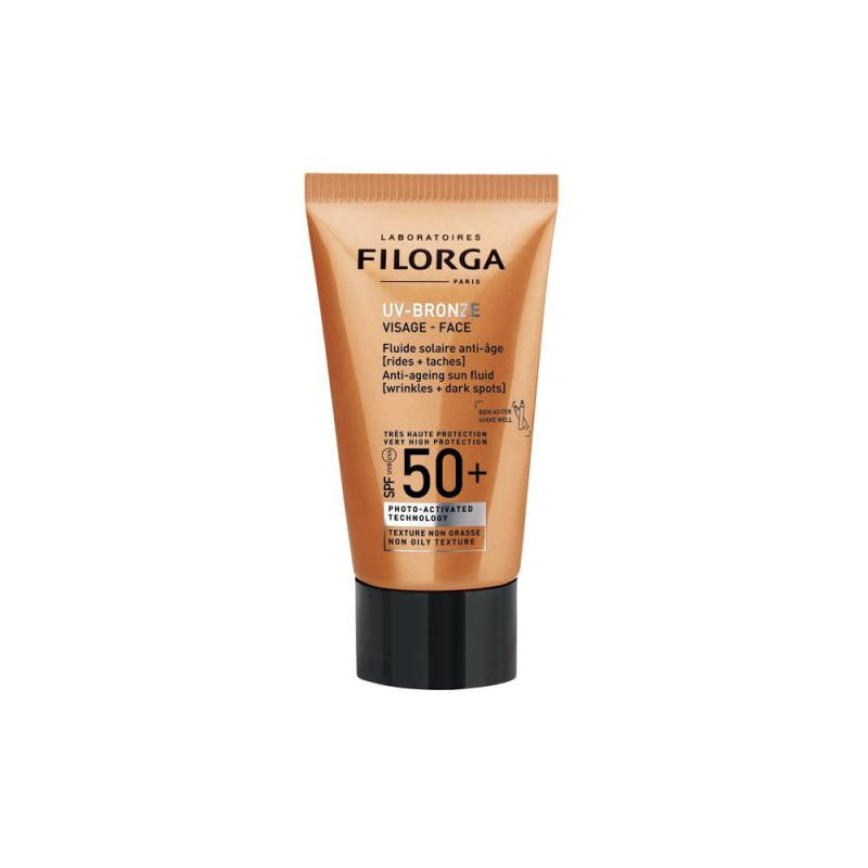 Filorga uv bronze visage fluide solaire anti âge spf 50+ 40 ml disponible sur Pharmacasse
