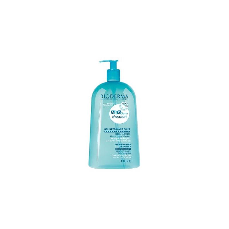 BIODERMA ABCDerm Moussant gel nettoyant doux 1L disponible sur Pharmacasse