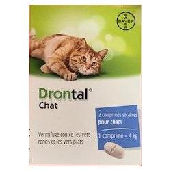 Drontal chat boite de 2 comprimés
