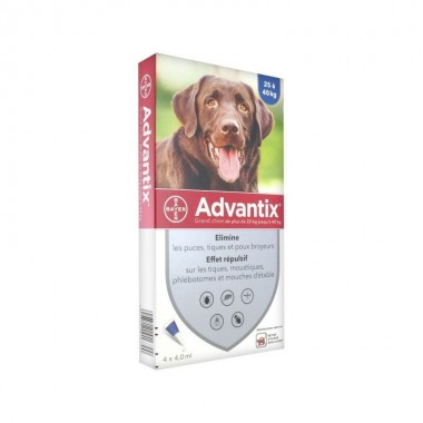 ADVANTIX grand chien (25kg...