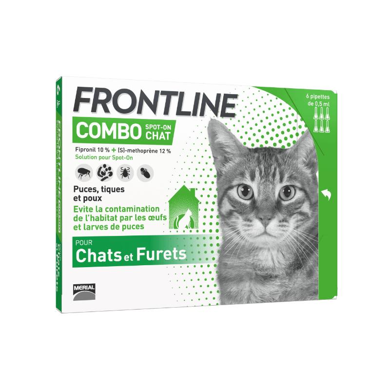 Frontline Combo Chat Boîte de 6 pipettes disponible sur Pharmacasse