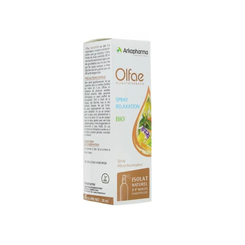 Arkopharma Olfae spray relaxation BIO 30 ml disponible sur Pharmacasse