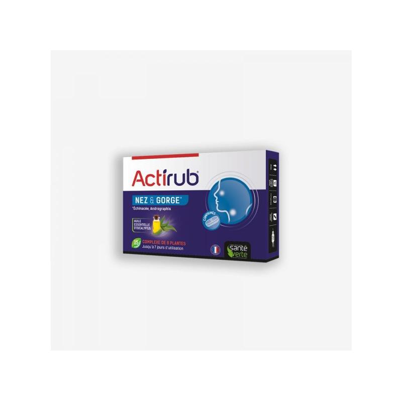 Actirub Nez gorge 15 comprimés disponible sur Pharmacasse